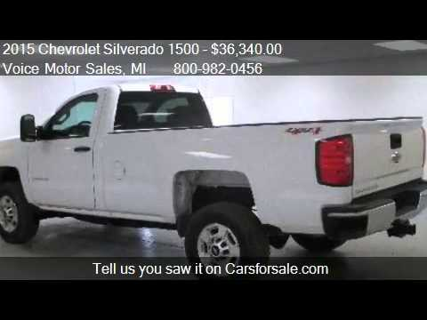 2015 chevrolet silverado 1500 ls 4x4 regular cab long box for Voice motors kalkaska michigan