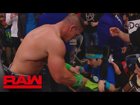 John Cena shares a special moment with MakeAWish kid Eyad: Raw, Feb. 12, 2018