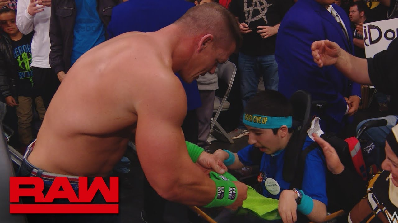 John Cena shares a special moment with Make-A-Wish kid Eyad: Raw, Feb. 12, 2018