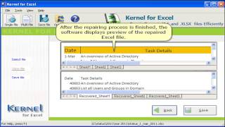 Kernel for Excel- Repair corrupted or deleted excel file. Updated version with new features