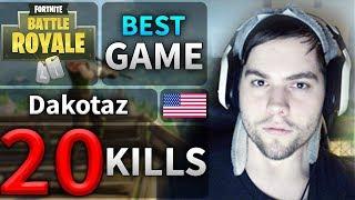 BEST of Dakotaz 20 Kills AMAZING Solo Game #37 (Fortnite Battle Royale)