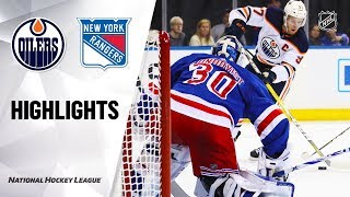 Oilers @ Rangers 10/12/19 Highlights