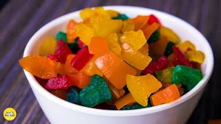 टूटी फ्रूटी बनाने की सीक्रेट रेसिपी | Homemade Tutty Fruity Recipe in Hindi