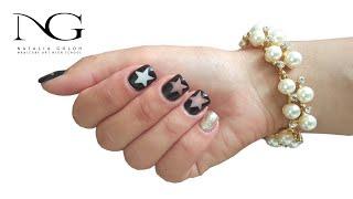 Дизайн ногтей - как нарисовать звездочку. Часть 2 / Nail Design - how to draw a star. Part 2(Все о ногтевом мире - обучающие видео по наращиванию акрилом и гелем, правила правильного выполнения маникю..., 2015-09-17T19:40:05.000Z)