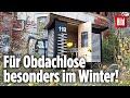 Obdachloser bekommt Mini-Haus geschenkt | Es wird mit nur 2 Kerzen warm!