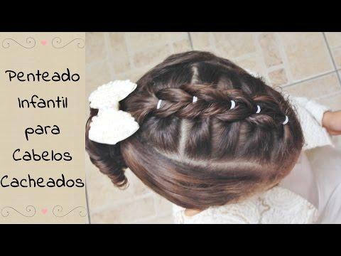 Penteado Infantil Para Cabelos Cacheados Rabo De Cavalo
