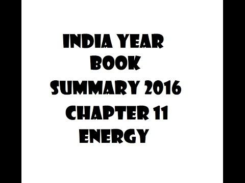India year Book IYB summary : chapter 11 - Energy