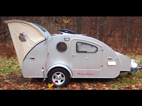 Teardrop Trailer Vistabule Catskill campout Nov 2016