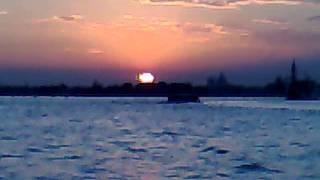 Tramonto sulla laguna di Venezia