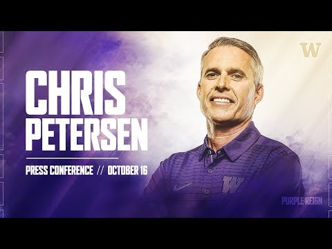 Football: Chris Petersen Weekly Press Conference 10.16.17
