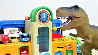 Dinosaurs Are Coming~! Tayo the little bus funny toy dinosaur story