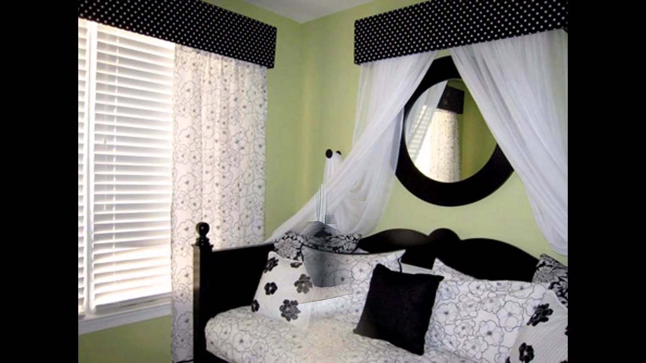 Fascinating black and white bedroom decorating ideas youtube Bedrooms decorated in black and white