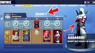"*NEW* SEASON 4 Tier 100 Battle Pass ""ASSASSIN"" Skin in Fortnite - Season 4 All Skins + Items LEAKED"