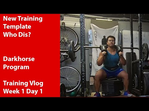 First day of the Darkhorse strongman template. Training Vlog - Week 1 Day 1