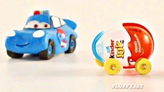 Cars 3 McQueen Surprise Eggs Car RACE Play Doh Stop Motion Disney Pixar Cars Toys Mack playtime