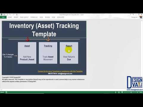 Asset Movement Tracking Spreadsheet