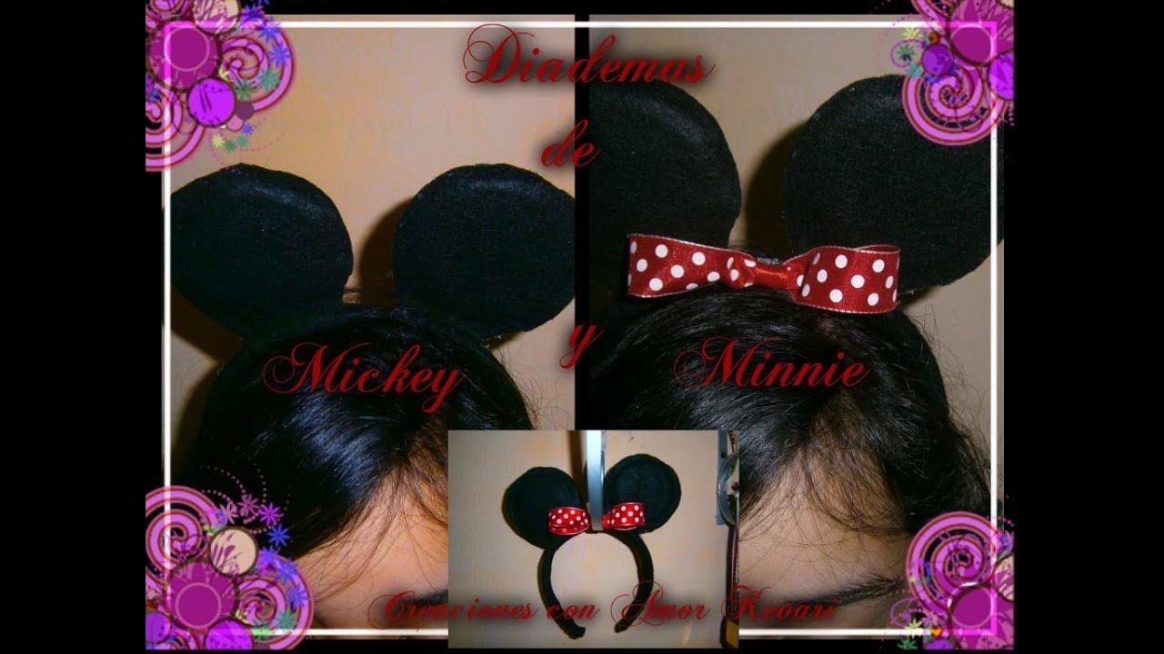 Diadema con orejas de mickey minnie mickey minnie - Manualidades minnie mouse ...