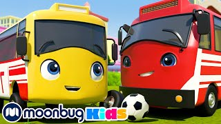 The Soccer Bus! | Go Buster By Little Baby Bum | Kids Cartoons & Baby Videos | ABCs & 123s