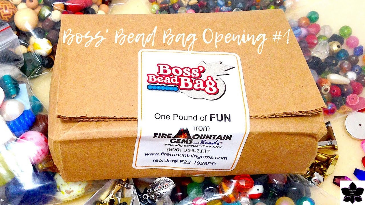 Boss Bead Bag Opening 1 5 Sale Fire Mountain Gems Youtube