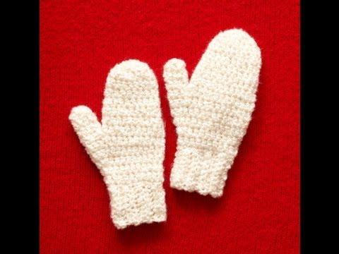 Easy To Crochet Mittens Lion Brand Pattern Youtube