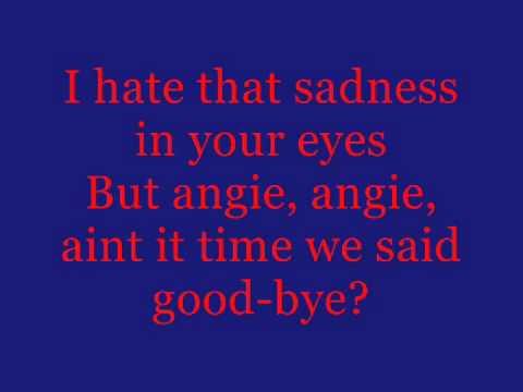 Songtext von The Rolling Stones - Angie Lyrics