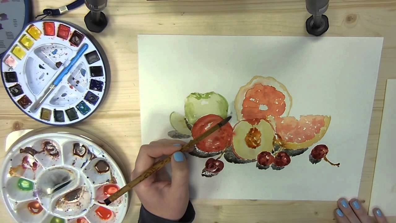 Assez L'Atelier de Louise ** Demonstration Aquarelle Nature Morte  EL41