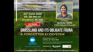Alolika Sinha talks about grasslands and its obligate fauna
