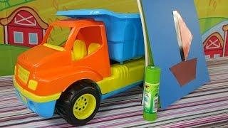 Видео для детей: машинка, грузовичок, апплицкация и геометрические фигуры - Весёлая Школа(Детская передача, развивающие видео для детей, мультфильм про машинку и настоящий урок геометрии для самых..., 2014-11-21T08:06:32.000Z)