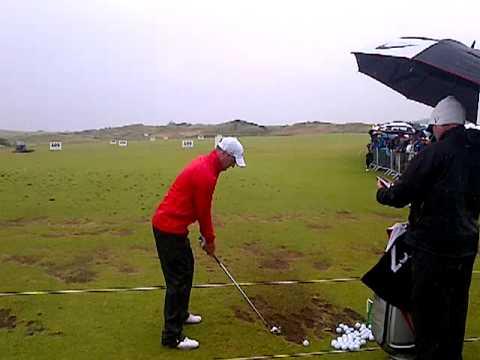 Marc Warren DTL on the range at the 2012 Irish Open (Royal Portrush)