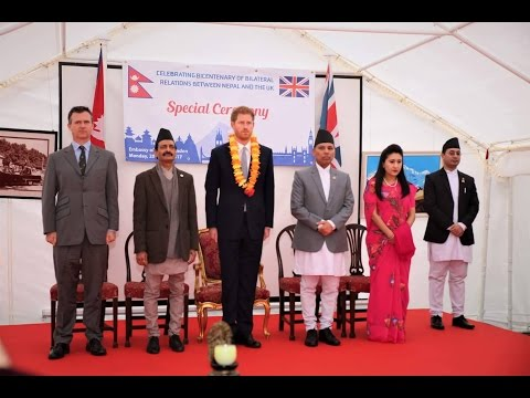 Prince Harry attends a Special Ceremony at the Emabassy of Nepal , London