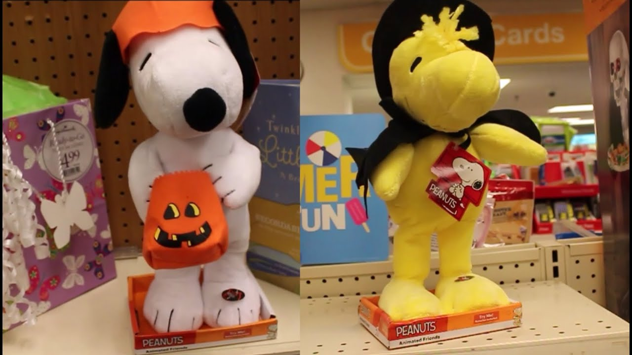 Animatronic Snoopy Halloween & Woodstock Figures - Peanuts Theme ...