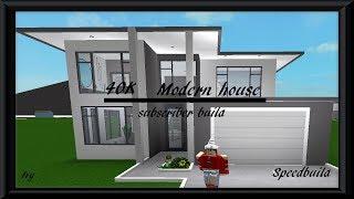 40K Modern House | Roblox Bloxburg | Subscriber Build | Speedbuild |