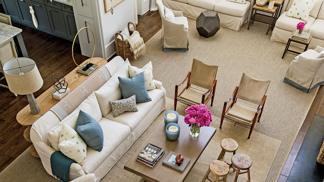 how to organize an open floor plan southern living youtube