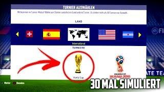 FUSSBALL WM 2018 30 MAL IN FIFA 18 SIMULIERT !!! ⚽️🏆 FIFA 18 Experiment