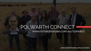 Richard Riordan MP Launches Polwarth Connect. #StayInformed #LovePolwarth