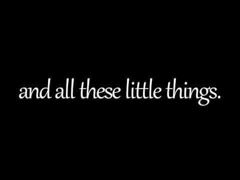 Little Things (Lyrics) - Ed Sheeran