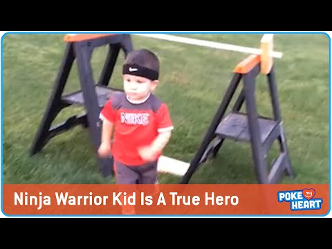 Awesome Little Kid Wins Ninja Warrior In His Yard