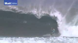 Biggest wipe-outs from the HUGE swell at Margaret River Pro