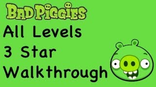 Bad Piggies - 3 Star Walkthrough All Levels (Ground Hog Day, When Pigs Fly, Sandbox, Hidden Skulls, Bonus Levels)