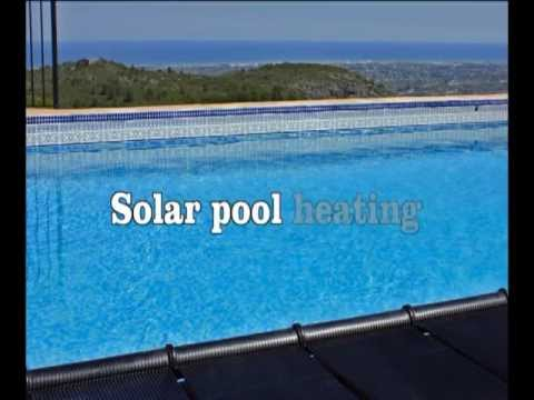 Solar pool heating system, solar panels swimming pool - YouTube
