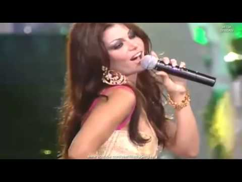 Lagu Merdu Arab Ya Hayat Albi   Ratu Cantik Lebanon Haifa Wehbe  هيفاء وهبي Amazing Live Performance
