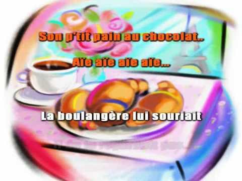 Le petit pain au chocolat - Joe Dassin ( Karaoké )