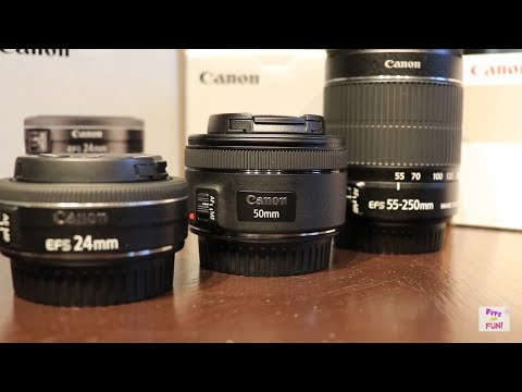 Canon Rebel Eos T7i  NEW lens options with DEMOs