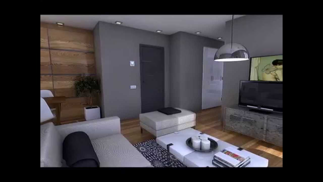 Dise o interior apartamento 50m2 youtube for Diseno interior departamento