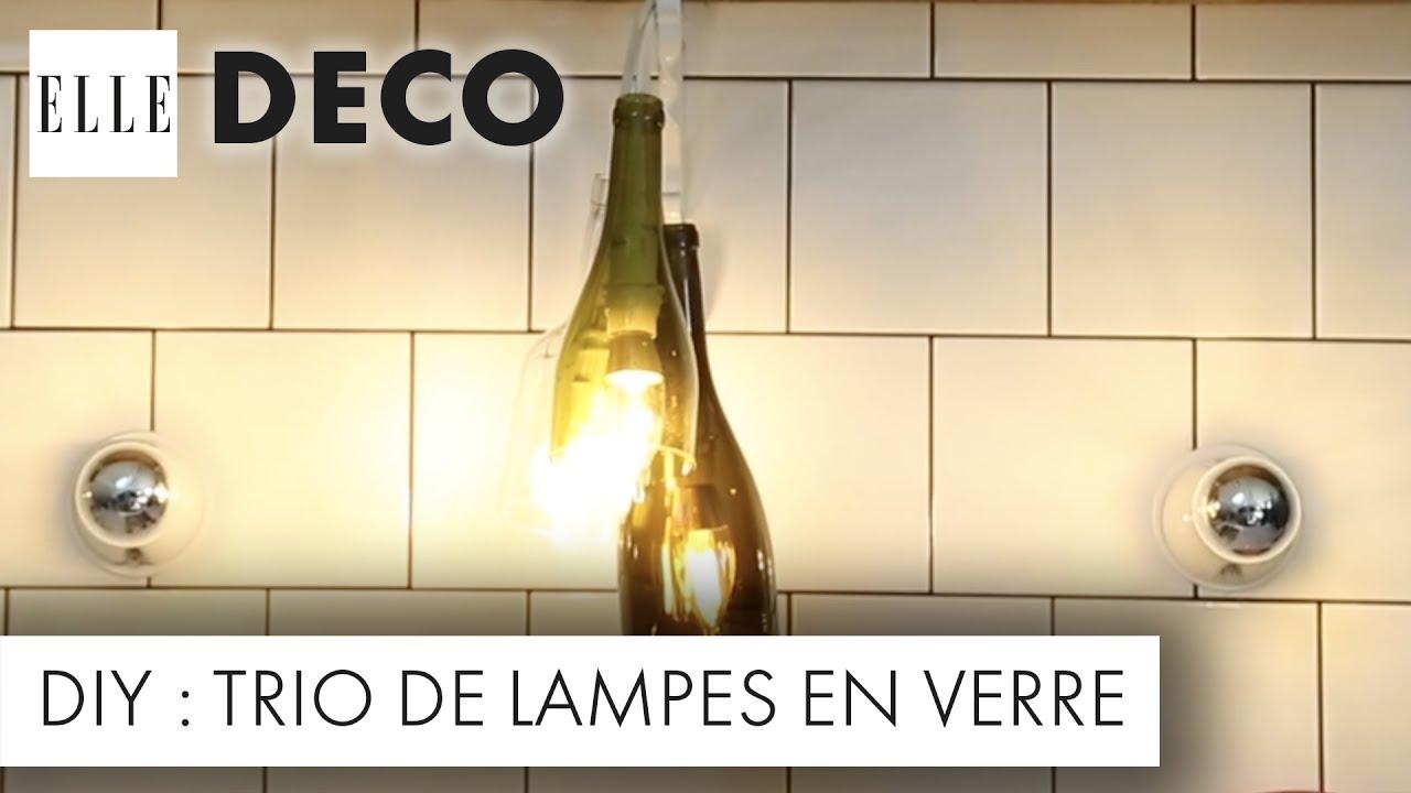 diy déco : recyclez vos bouteilles en verre en luminaires | elle déco