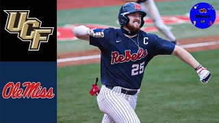 UCF vs #1 Ole Miss Highlights (Crazy Game!) | 2021 College Baseball Highlights