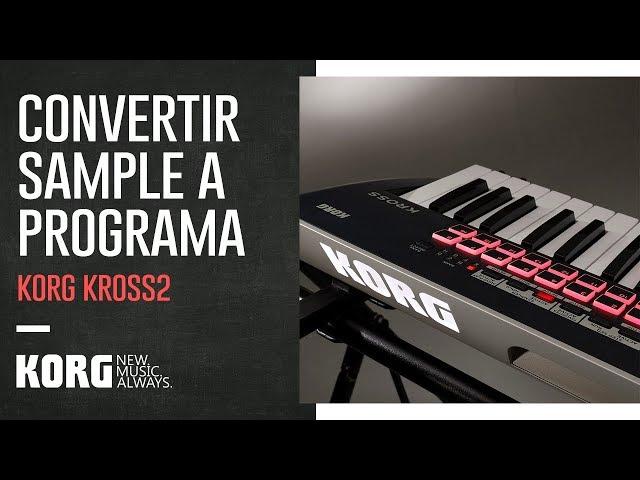 KORG KROSS2 | Convertir sample a programa