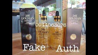 Phân biệt hàng thật và giả ampoule vàng 24k Goldzan 99.9% pure gold #realgoldzan #fakegoldzan