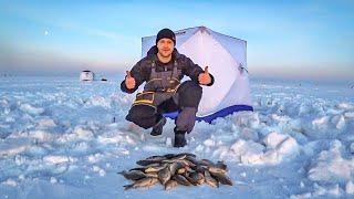 Зимняя рыбалка на карася. Отличный клёв. Озеро Уелги