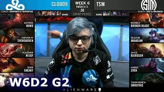 C9 vs TSM | Week 6 Day 2 S9 LCS Summer 2019 | Cloud 9 vs TSM W6D2